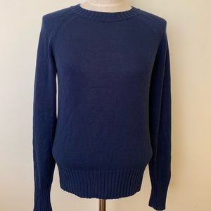 Everlane Cotton Sweater Crew Navy Medium